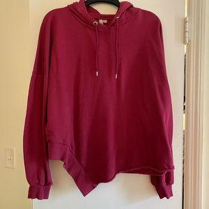 Pink Plus Size Cropped Sweatshirt